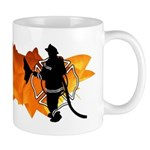 Mugs filled with hot flames and coffee are great firefighter gift ideas for home or the fire department break time