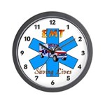 EMT Saving Lives Wall Clock