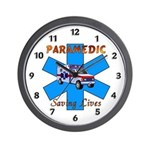 Paramedic Saving Lives Wall Clock