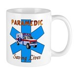 Paramedic Saving Lives Mug is perfect for medics coffee or favorite beverage!  Mugs are available in 2 sizes and many EMS themes available.