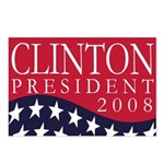 Clinton for President in 2008 (8 Postcards)