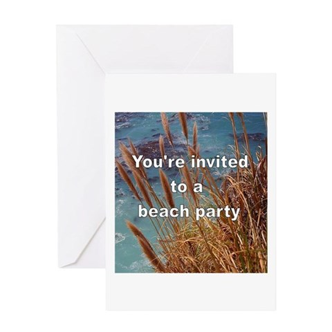 - BEACH PARTY INVITEY Beach Greeting Card by CafePress