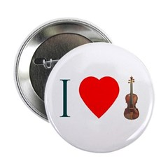 I Luv Violin Button