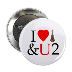 I Luv Violin and U2 Button