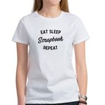 Eat Sleep Scrapbook Repeat T-Shirt