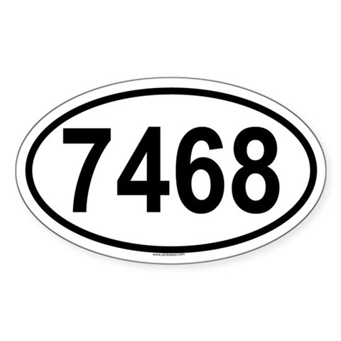 7468 Oval Sticker Retro Sticker Oval by CafePress
