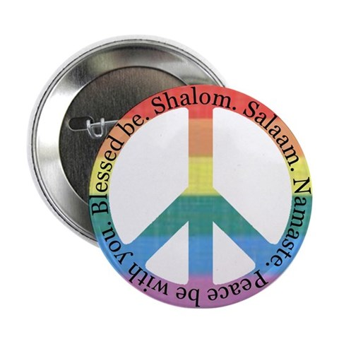 100 Queer Interfaith Peace Buttons Christian 2.25 Button 100 pack by CafePress