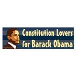 Constitution Lovers for Barack Obama (sticker)