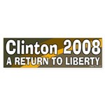 Clinton A Return To Liberty Bumpersticker