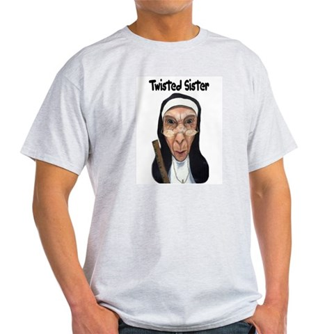 Nun Fun Ash Grey T-Shirt Fun Light T-Shirt by CafePress