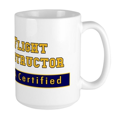 FAA Certified Flight Instructor Large Mug