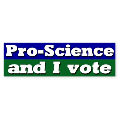 Pro Science Voter Bumper Sticker