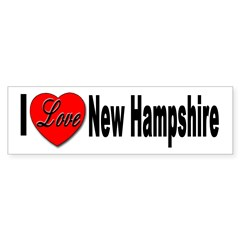 I Love New Hampshire Sticker (Bumper)