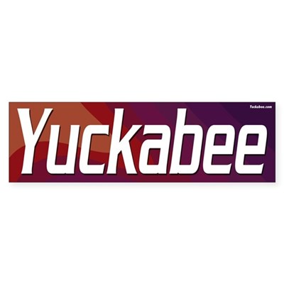 Yuckabee bumper sticker (red)