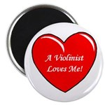 A Violinist Loves Me Button--Great for Valentines Day