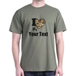 Personalize Camo Heart T-Shirt