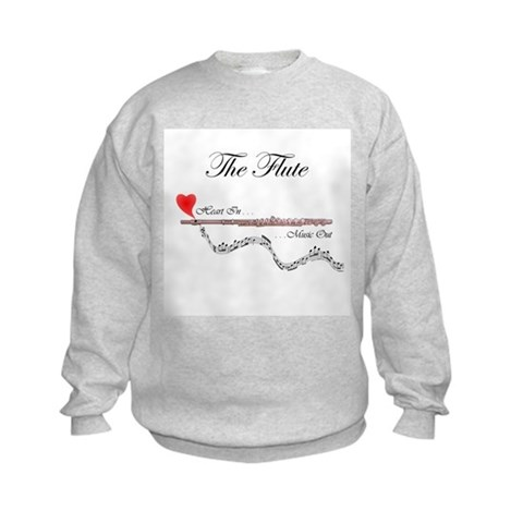 'The Flute'  Music Kids Sweatshirt by CafePress