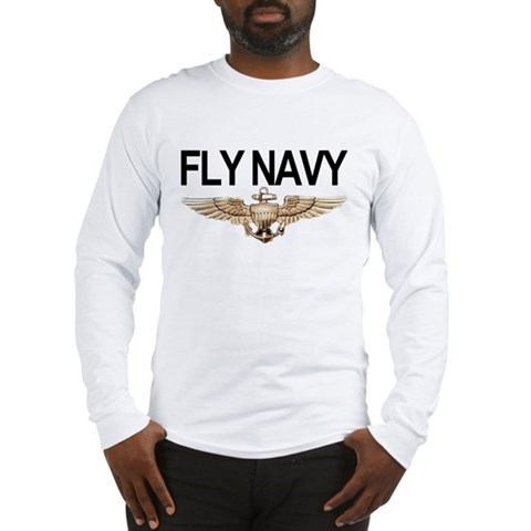 Product Image of Fly Navy Wings Long Sleeve T-Shirt