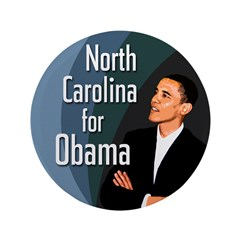 North Carolina for Obama Big Button