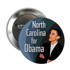 North Carolina for Obama campaign button
