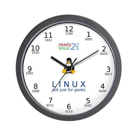 Ready2Go Linux  Linux Wall Clock by CafePress