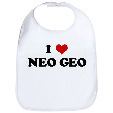 I Love NEO GEO Humor Bib by CafePress