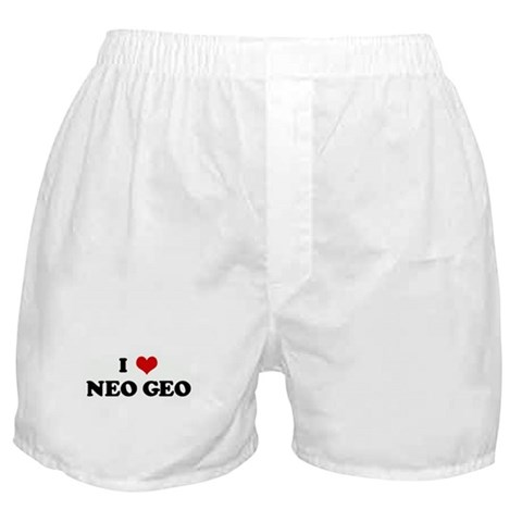 I Love NEO GEO Humor Boxer Shorts by CafePress