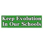 Keep Evolution In School Sticker