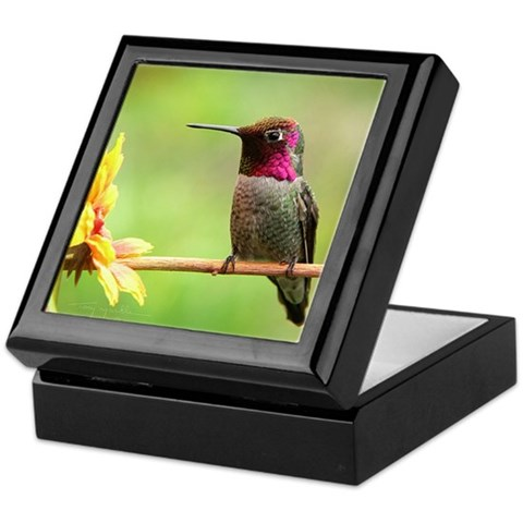 Hummingbird Custom  Hummingbird Keepsake Box by CafePress