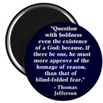 Jefferson Question God Magnet