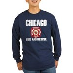 Chicago Fire Department Long Sleeve Dark T-Shirt