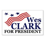 Wes Clark for President (car sticker)