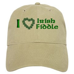 I Love Irish Fiddle Cap