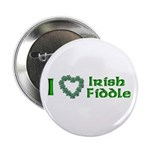 I Love Irish Fiddle Button