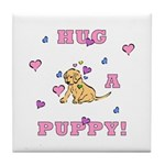 Hug A Puppy Tile Coaster