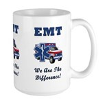 EMT gift mugs honoring those who DO make a difference!  EMS and paramedics are the difference between life and death, you deserve a mug filled with coffee or cocoa before, during and after your shift!