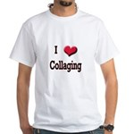 I Love (Heart) Collaging White T-Shirt