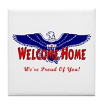 Military Welcome Home Tile Coaster