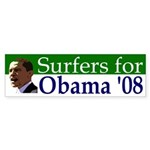 Surfers for Obama '08 bumpersticker