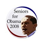 "Seniors for Obama 2008 3.5"" Button"