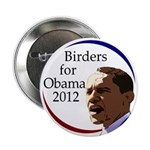 "Birders for Obama 2.25"" Button"