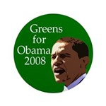 "Greens for Obama 3.5"" Button"