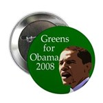 "Greens for Obama 2.25"" Button"