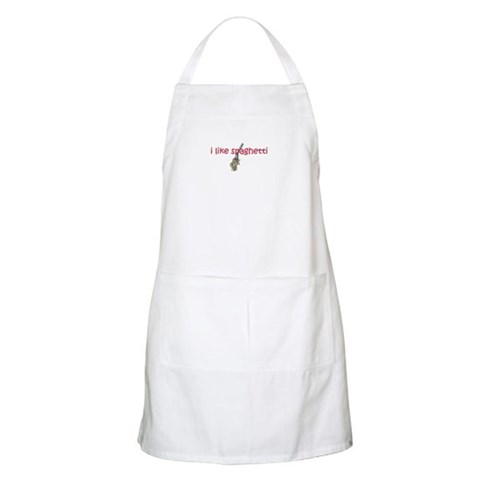 I Like Spaghetti BBQ Yellow Apron by CafePress