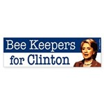 Bee Keepers for Clinton bumper sticker