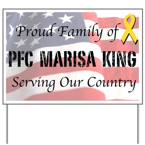 - Custom: Proud Marine Family Military Yard Sign by CafePress