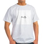 Present Value Formula Ash Grey T-Shirt