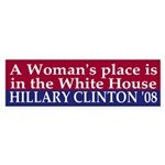 A Woman's Place (08 bumper sticker)