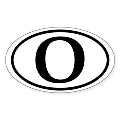 Barack Obama Black and White O Oval Bumper Sticker