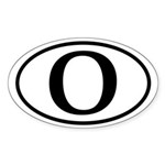 O: Barack Obama Oval Bumper Sticker